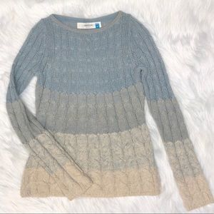 Anthropologie Sparrow cable knit ombré sweater S.
